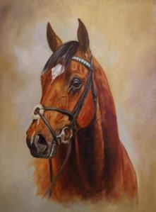 'Frankel' Original oil (sold) but Limited Edition Prints available