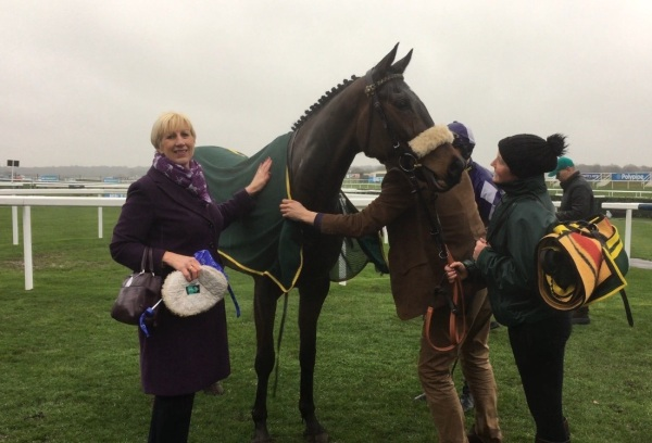 Jayne Sivills with her homebred mare