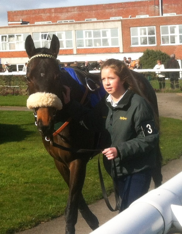 Megan with Frankie in the pre parade ring