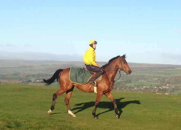 Phil riding one of his favourite horses, 3 x winner for us - Full Speed