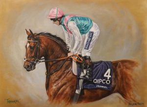 'Frankel' by Pippa.  Original oil - movement study - for sale.