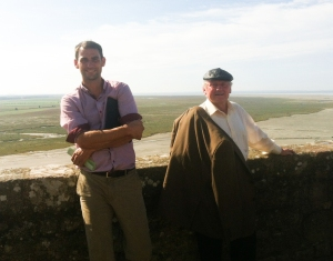 Phil and one of our owners Bernard Dolan on the top of the Mont St Michel!
