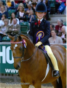 Izzy Kirby riding Cooper in the first ridden class