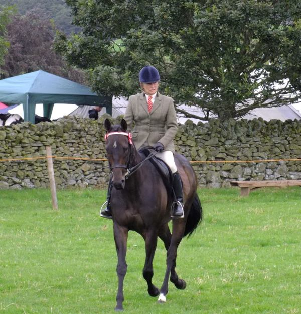 Elspeth Boy competing with Shirley Errington