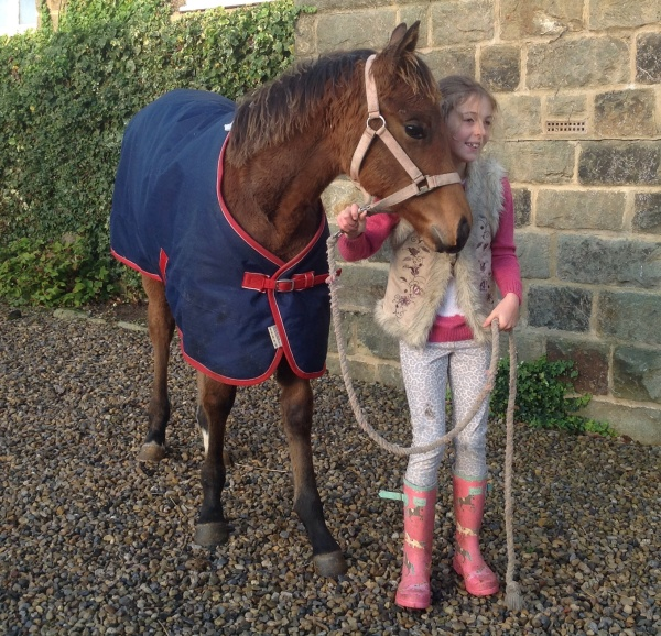 Izzy Kirby with Hulla Ballew's filly foal who is now weaned.