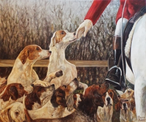 Hounds study - Limited Edition print £75.00