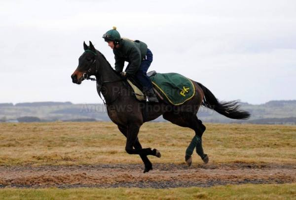 sarah and Frankie cantering