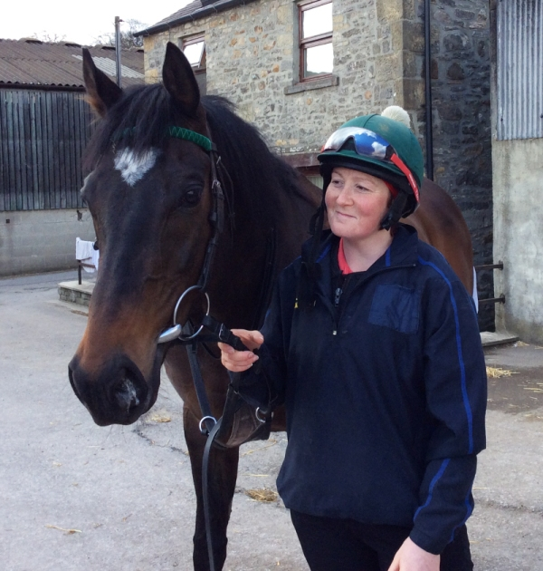 Julie with her favourite, Pass Muster