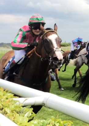 Julie at Doncaster last year on Quadriga