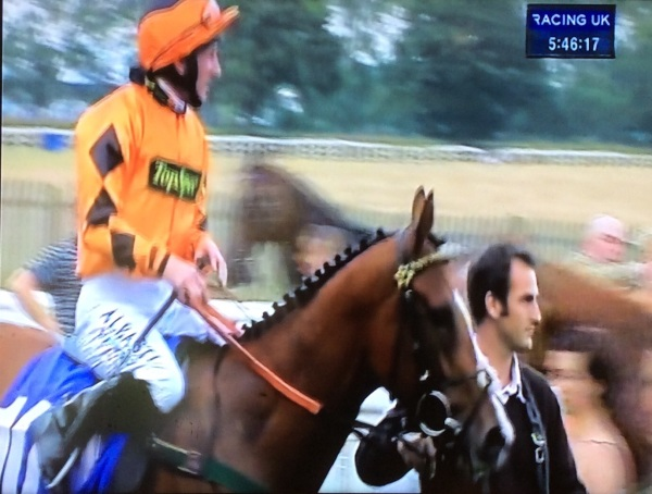Phil with Splash of Verve and Paul Hannigan coming into the winners enclosure