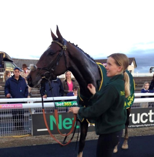 Bruce Almighty  in the winners enclosure with Sarah