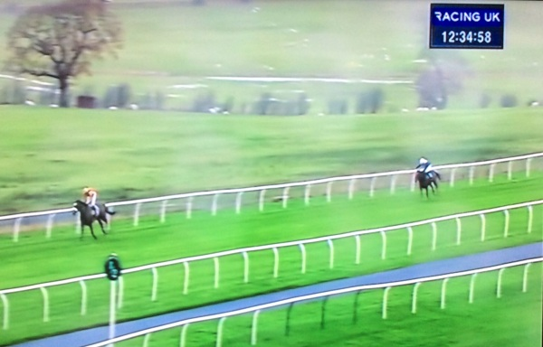 Courtown is eased up on the running after skipping clear from the home bend making light of the dreadful conditions