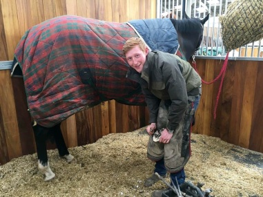 Our farrier Toby Pedley
