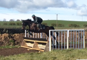 Julie with Pass Muster who jumped beautifully