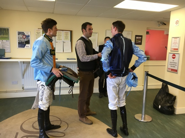 Phil with Adam and Nathan in the weighing room