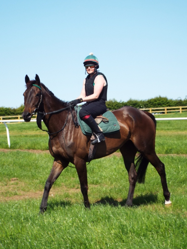 Julie with new horse Discay, entered at Musselburgh