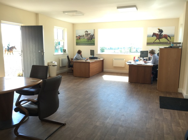 The Office with a wonderful view of the gallops