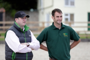 Niall Hannity with Phil on our open day 16'