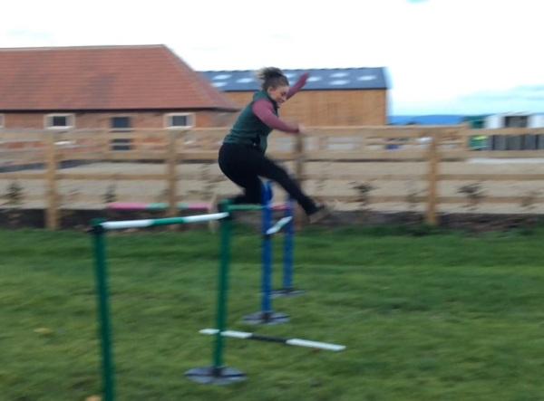 Katie flying high