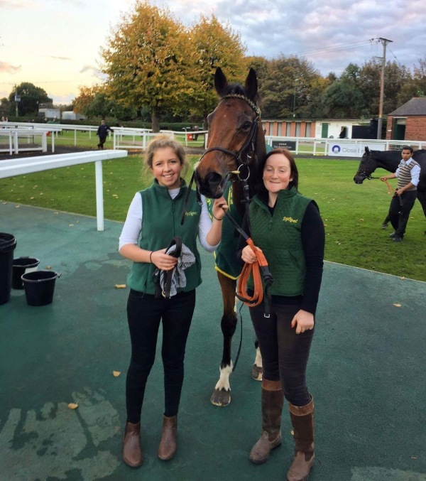 Julie and Meg with Whitchurch in the winners enclosure