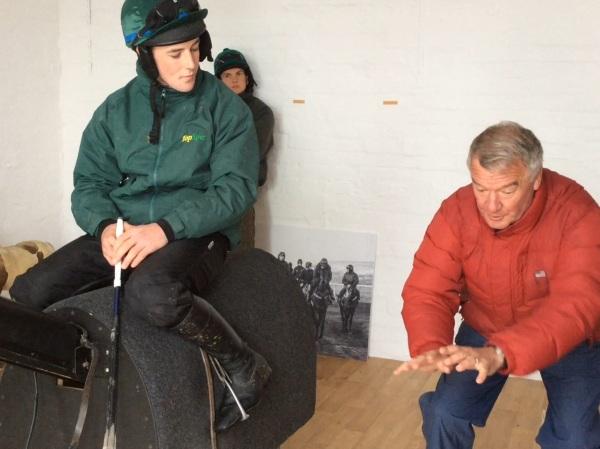 Yogi instructing Lee on the Equicizer