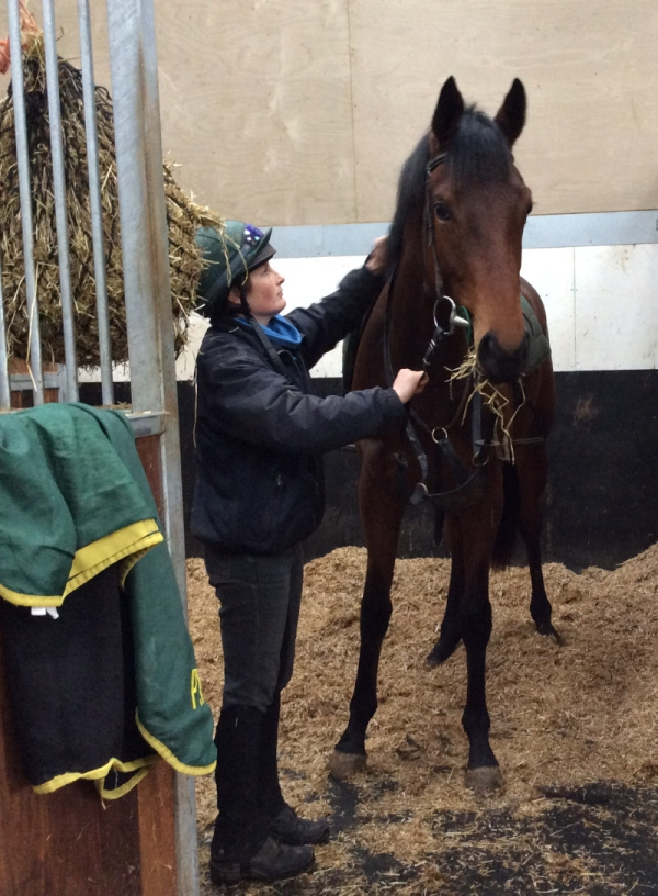 Lauren with the Poet's Voice yearling filly