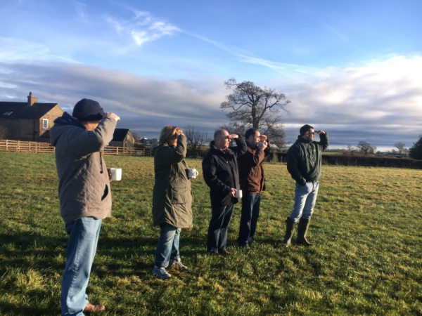 Gallop watchers on Saturday - a beautiful sunny but cold morning, cups of coffee provided!