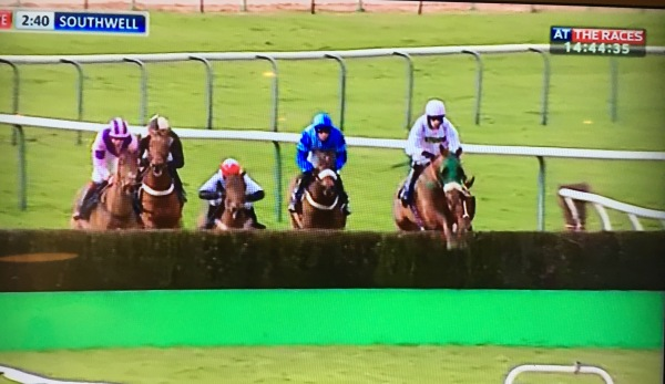 Cleve Cotrtage puts in a bold front running display to win the staying chase at Southwell this afternoon