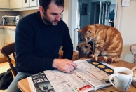 Top Cat helping Phil with his Cheltenham selections last year