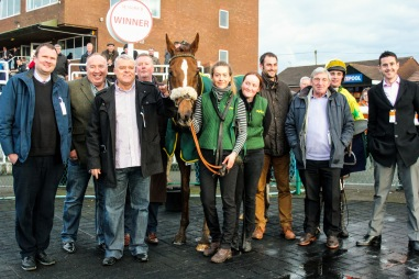 Eastview Boy in the Winners Enclosure yesterday at Sedgefield