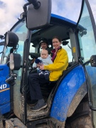 Team 'Olley' in the tractor