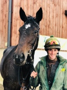 Sammi with 'Big Ears' a 3 year old Yeats filly