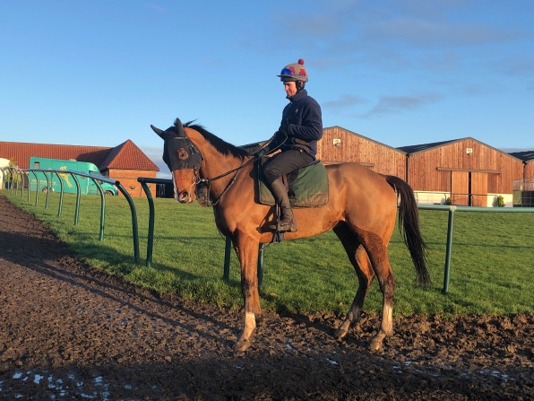 Colm & Wye Aye being ridden out on Christmas Day